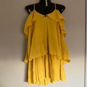 H & M Yellow/Mustard Linen Dress EUR 36 UK 8